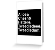 AIW White Greeting Card