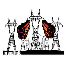 Powerlines with guns Photographic Print