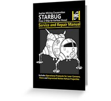Starbug Service and Repair Manual Greeting Card