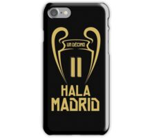 Hala Madrid Champions 11 iPhone Case/Skin