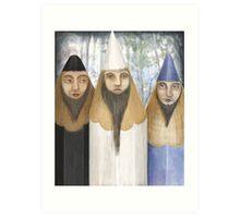 Three Pencilheads  Art Print