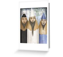 Three Pencilheads  Greeting Card