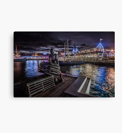 Fremantle Fishing Boat Harbour Canvas Print