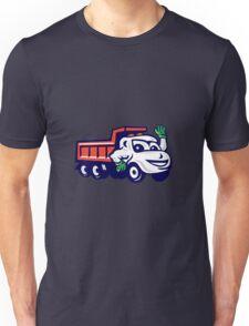 Dump Truck Waving Cartoon Unisex T-Shirt