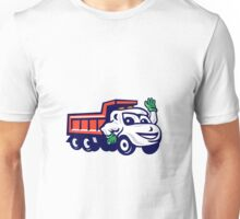 Dump Truck Waving Cartoon Unisex T-Shirt