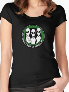 Welcome, cows of Earth! Women's Fitted Scoop T-Shirt