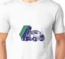 Roll-Off Truck Bin Truck Cartoon Unisex T-Shirt