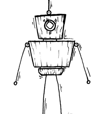 JDN the Robot Sticker