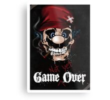game not yet over  Metal Print
