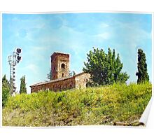 Pieve di Tho: church and railway signal Poster