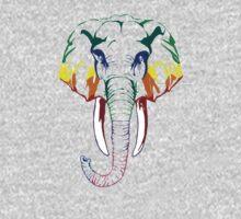 Rainbow elephant Kids Tee