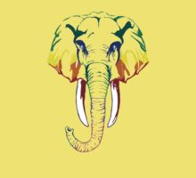 Rainbow elephant Kids Tee