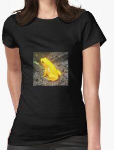 Golden Poison Dart Frog Print Womens Fitted T-Shirt