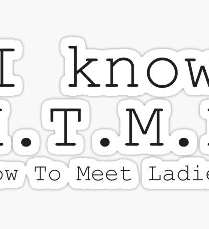 How to Meet Ladies Sticker