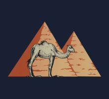 Egyptian Pyramids With Camel T Shirt One Piece - Short Sleeve