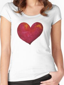 Red Heart Women's Fitted Scoop T-Shirt