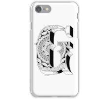 G - Mandala N°1 inside Alphabet N°1 iPhone Case/Skin