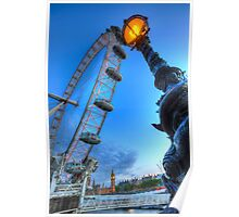 The London Eye and Street Lamp Poster