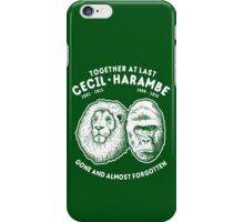 Cecil Harambe Memorial T-Shirt iPhone Case/Skin