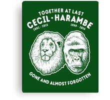 Cecil Harambe Memorial T-Shirt Canvas Print