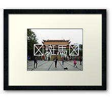 Chinese Writing Po Lin Monastery  Framed Print