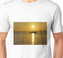 Cruise at sunrise on ther Moray Firth Unisex T-Shirt