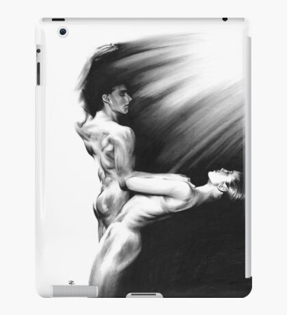 Shadow twister Formation - conté drawing iPad Case/Skin