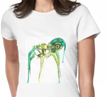 Green Creepy Crawlie Womens Fitted T-Shirt