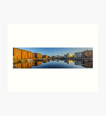 Sunrise at the Salthouse Dock Art Print