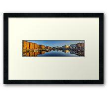 Sunrise at the Salthouse Dock Framed Print