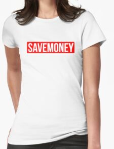 Vic Mensa Save Money Logo  Womens Fitted T-Shirt