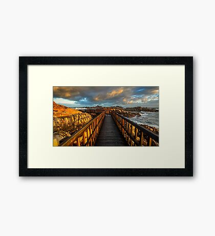 Canal Rocks Framed Print