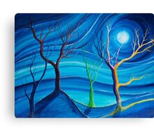 Trees in blue space  Canvas Print
