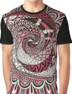 Spiral in the Pink Graphic T-Shirt