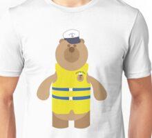 Teddy Bear Wearing a Life Jacket Unisex T-Shirt