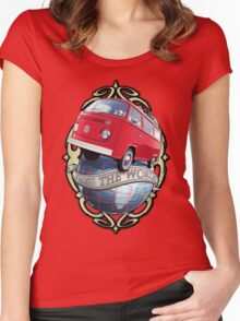 T2 Bus - Cross the World Women's Fitted Scoop T-Shirt