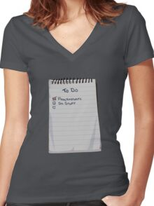 Todo List Women's Fitted V-Neck T-Shirt