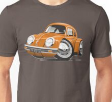 VW Beetle caricature orange Unisex T-Shirt
