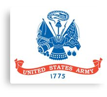 ARMY, US, USA, United States Army, American, 1775, Official flag, America,  Canvas Print