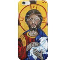 Christ the good shepherd icon iPhone Case/Skin