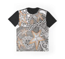 Stars and Circles Graphic T-Shirt