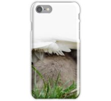 Beautiful Cygnets tucking underneath Mothers wing iPhone Case/Skin