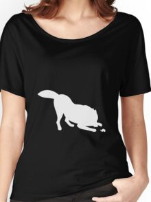 White wolf with turtle Women's Relaxed Fit T-Shirt