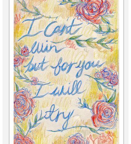 Ryan Adams Lyrics- Blue Sky Blues  Sticker