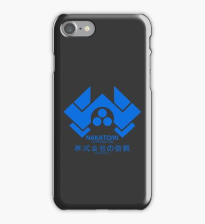 NAKATOMI PLAZA - DIE HARD BRUCE WILLIS (BLUE) iPhone Case/Skin