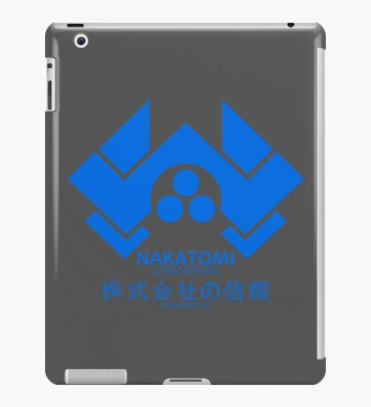 NAKATOMI PLAZA - DIE HARD BRUCE WILLIS (BLUE) iPad Case/Skin