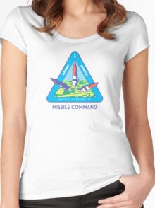 MISSILE COMMAND - ATARI COLD WAR Women's Fitted Scoop T-Shirt