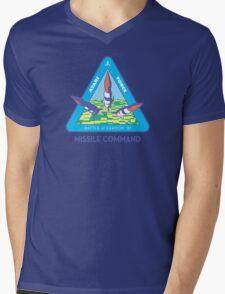 MISSILE COMMAND - ATARI COLD WAR Mens V-Neck T-Shirt