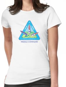 MISSILE COMMAND - ATARI CLASSIC PATCH Womens Fitted T-Shirt
