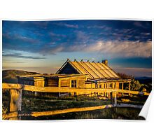 Craigs Hut Sunrise - Mount Stirling - Victorian High Country Poster